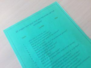 25 vragen om terug te blikken op het afgelopen schooljaar